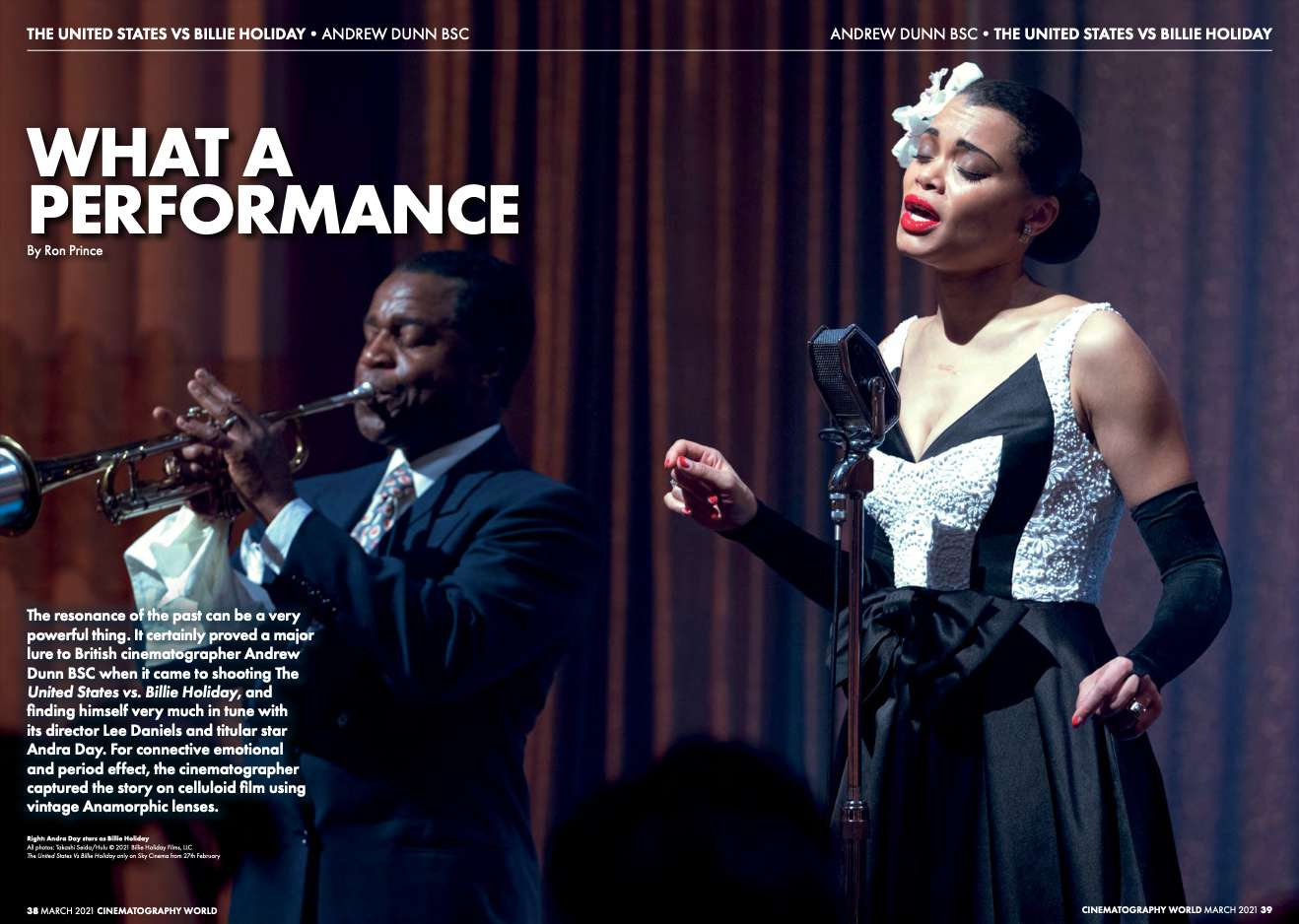 BILLIE HOLIDAY FEATURE IN CINEMATOGRAPHY WORLD
